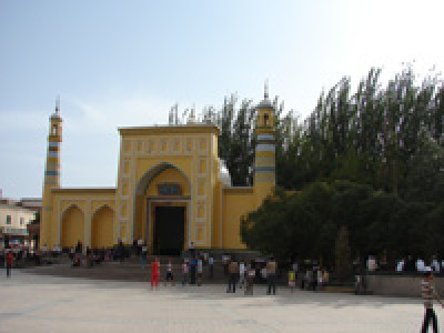 The Id Kah mosque, Kashgar, Chinese Xingjian