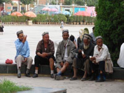 Inhabitants of Kashgar, Chinese Xingjian