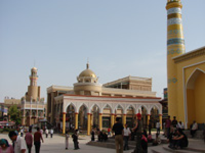 The square at the Id Kah mosque, Kashgar, Chinese Xingjian