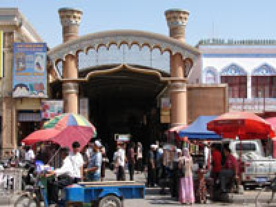 Sunday market in Kashgar