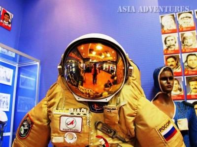 Костюм космонавта на Байконуре