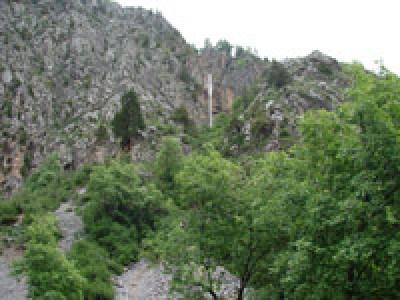 Большой (верхний) водопад Арсланбоба, Киргизстан