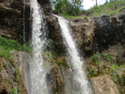 Small (lower) waterfall of Arslanbob, Kyrgyzstan