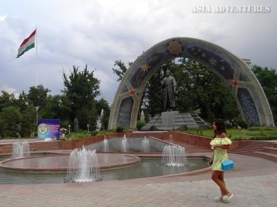 Монумент С.Айни, Душанбе