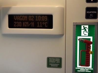 Поезд Афросиаб скорость 230км/ч
