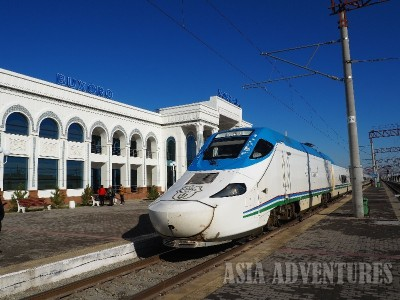 Поезд Афросиаб вокзал Бухара