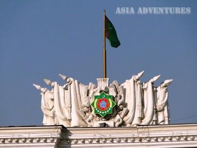 Государственная символика Туркменистана (герб-флаг), Ашгабад