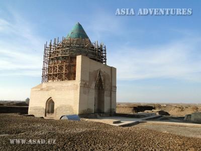 The Mausoleum of Sultan Tekisha, Old Urgench, Turkmenistan
