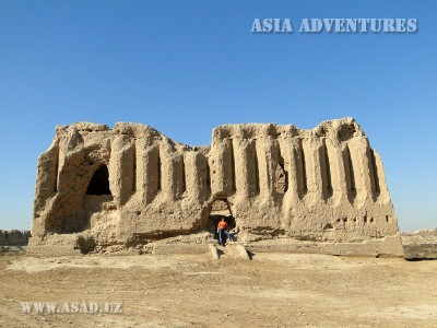 Ruins of a treasury building in  Shohriyar Arc, Merv, Turkmenistan