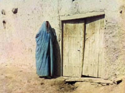Женщина в паранже, фото Прокудина-Горского (начало XXв.)