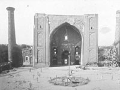 Медресе Улугбека, площадь Регистан, Самаркан, фото начала XXв.