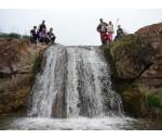 Cycling tour. Tavaksay waterfalls