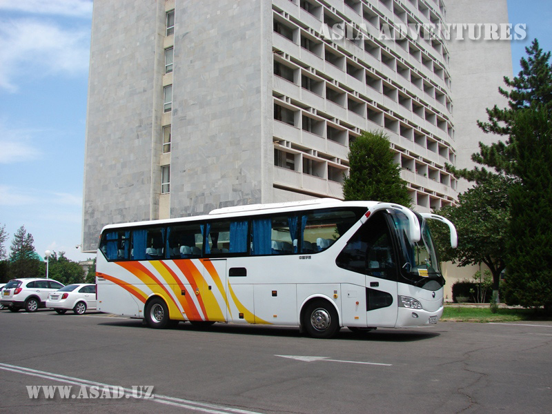 Travel bus Yutong, 45 seats, a/c, w/c, refrigerator, audio, video, water dispenser, seat belts
